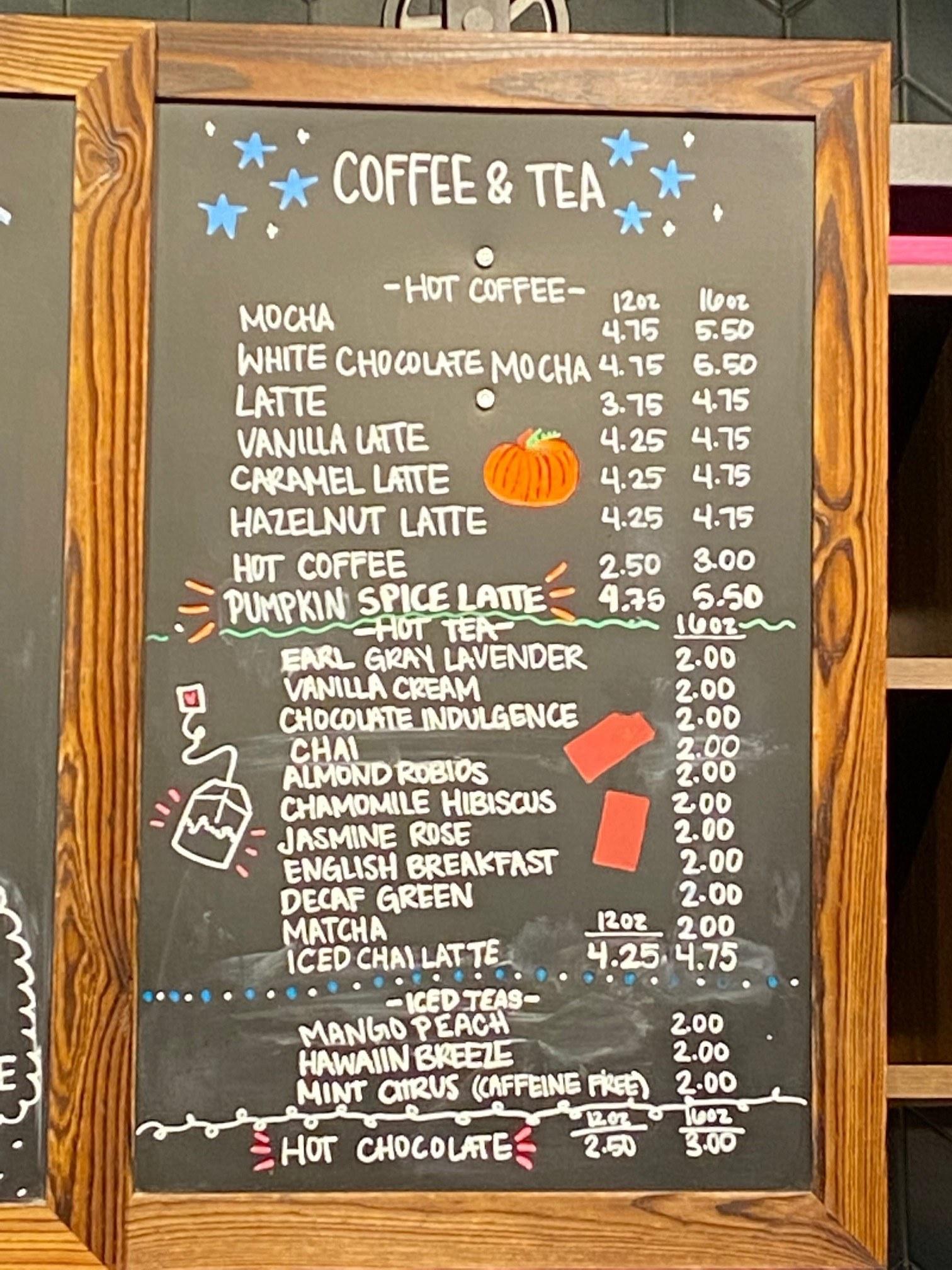 Coffee and Tea 10 21 21