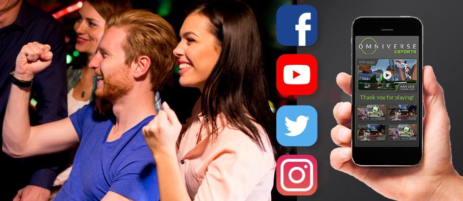 Social Share screens fistpump